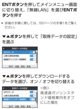 セルスター GPSデータ更新