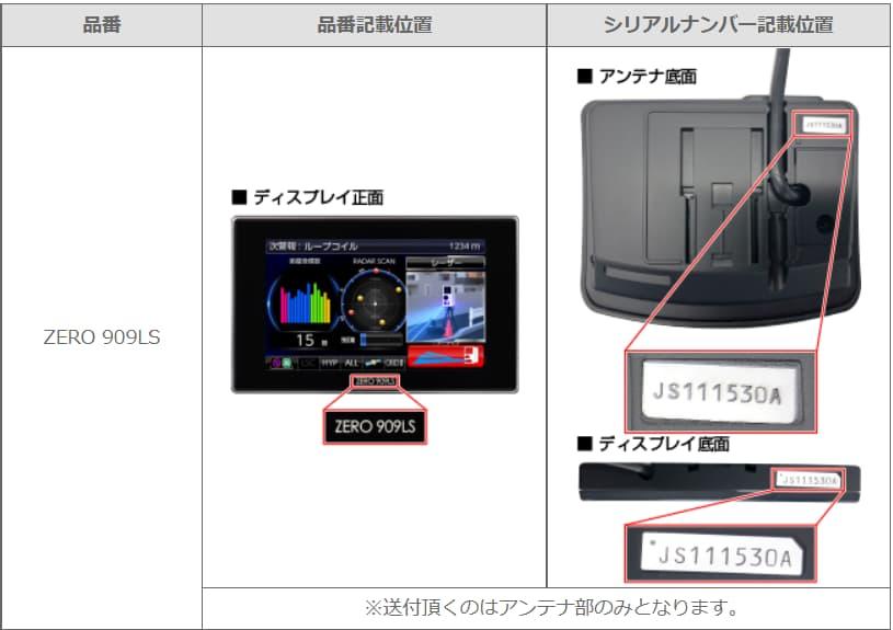 今回の注意点は 909LSはアンテナ部だけを送付すること。